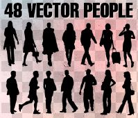 Vector people for architecture