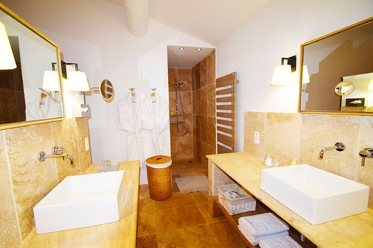 #Contemporary bathroom at Maison Bertine, Luxury Guesthouse in #Provence