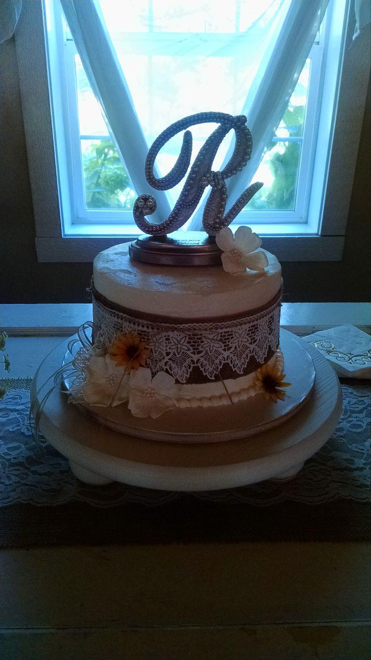 Cakes by Laura LLC Kelli and Dan's Wedding Cake, Dessert