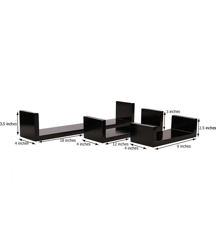 Blackberry Overseas Beautiful Set of 3 Wall Shelves by Blackberry Overseas Online - Wall Shelves - Home Decor - Pepperfry Product