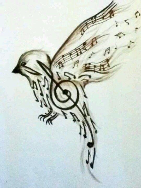 Bird and music art