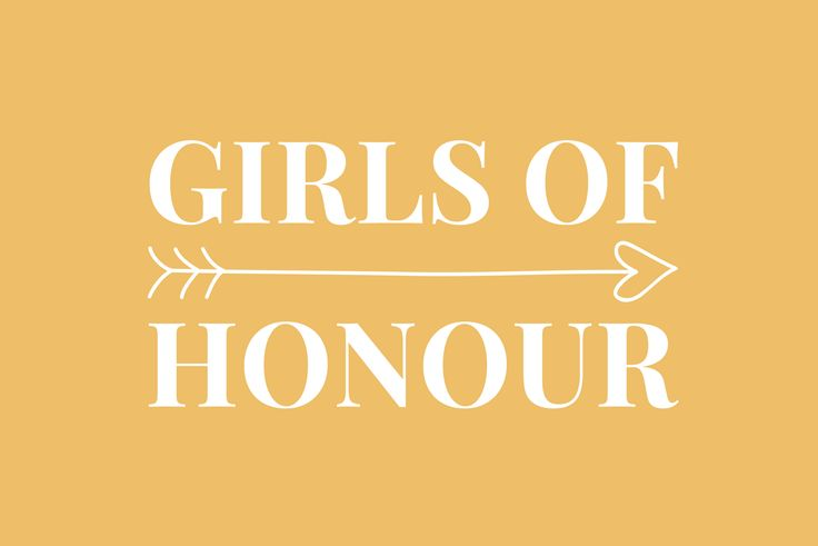 Last minute bruiloft to do's - Girls of honour
