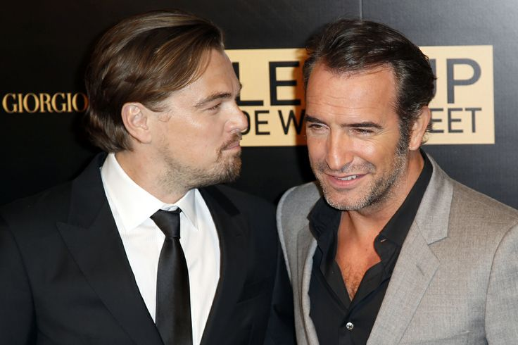 From left us actor leonardo di caprio left and french for Dujardin facebook