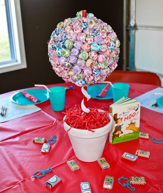 "Photo 1 of 33: First Birthday/Dr. Seuss / Birthday ""Logan's Dr. Seuss First Birthday"" | Catch My Party"