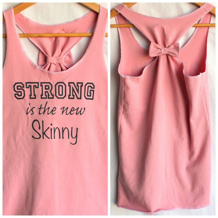 Pink Cotton Racerback Tank Strong is the new Skinny  by personTen, $33.00