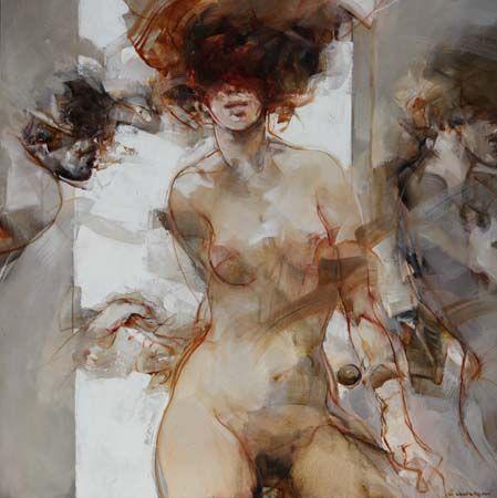 Vanni SALTARELLI, Amour dispute, 100 x 100 cm, huile sur toile. http://www.galeriealaindaudet.fr/vanni-saltarelli/