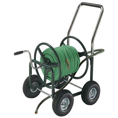 Superb High Capacity Garden Hose Wagon (Garden Hose Not Included)