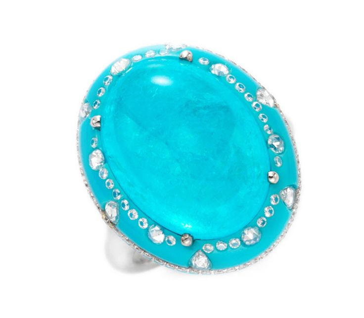 FD-gallery.com,,,,Paraiba, turquoise and diamond ring, by Chopard.