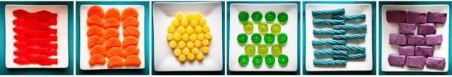 rainbow party lolly idea - simple but effective!