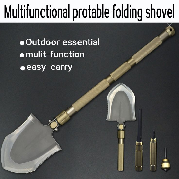 32.20$  Buy here - http://aipsp.worlditems.win/all/product.php?id=32793121880 - Multifunctional Camping Shovel Folding Outdoor Survival Military Tactical Tool Equipment With Fish Knife Fork Hammer