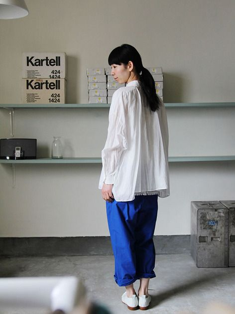 YAECA Tuck blouse / A&S  Men's cropped pants 4YAECA Tuck blouse / A&S Men's cropped pants ARTS&SCIENCE * YAECA