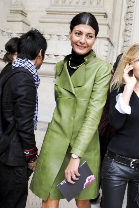 Valentino Leather Trench - Giovanna Battaglia's Closet - I Want To Be A Battaglia
