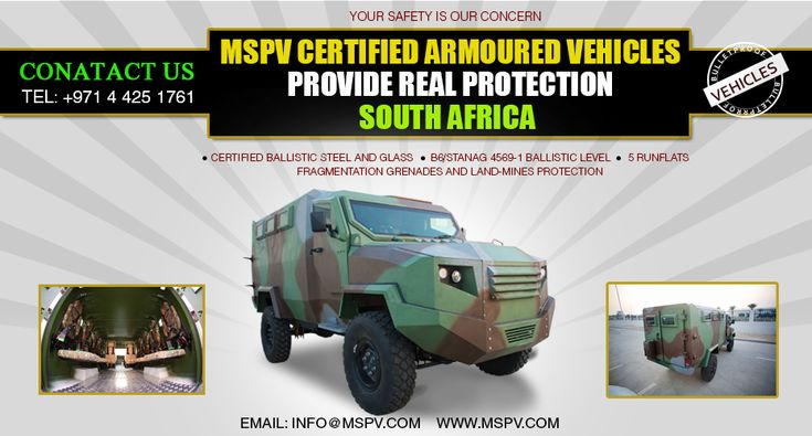 Armored Military Vehicles SOUTH AFRICA