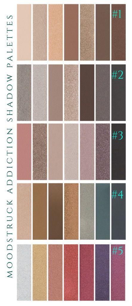 Moodstruck Addiction Shadow Palette colours