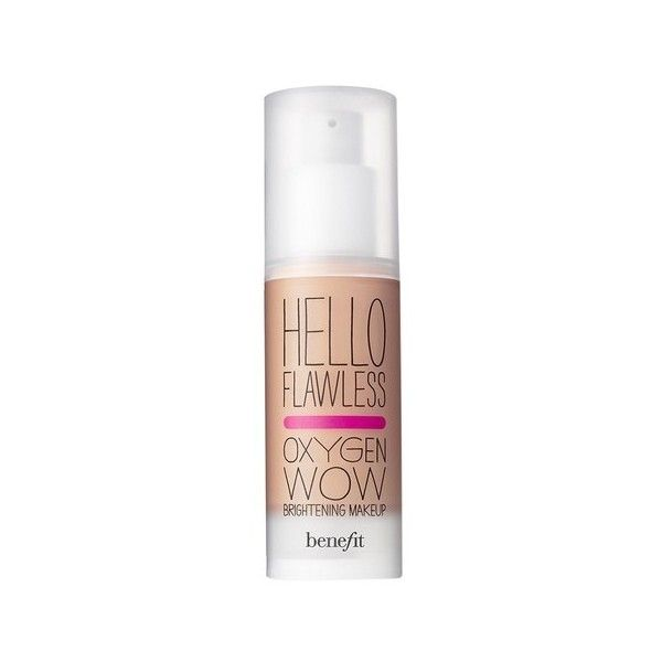 Benefit Cosmetics Hello Flawless! Oxygen Wow Liquid Foundation (€35) ❤ liked on Polyvore featuring beauty products, makeup, face makeup, foundation, liquid foundation and benefit foundation