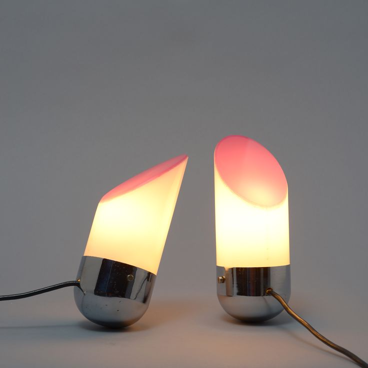 Bedside Table Lamps, Italy 1970u0027s. A Pair Of Balancing Lights With  Chrome Finished