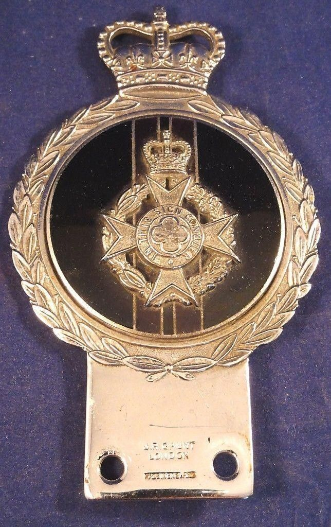 Vintage Military Car Badge by J R Gaunt British Army Chaplain (08/16/2015)