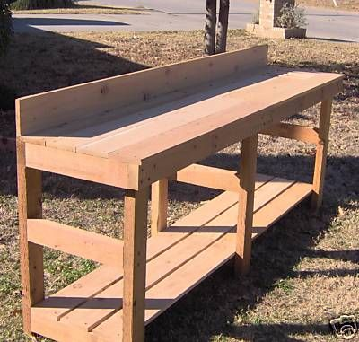 NEW 8 FT CEDAR POTTING BENCH GARDENING PLANTER BENCHES on eBay!