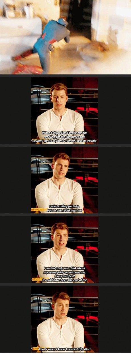 Chris joking about when he got hurt on set! The best :)
