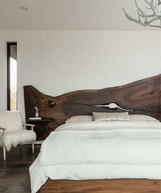 Oltre 25 fantastiche idee su legno grezzo su pinterest - Spalliere letto in legno ...