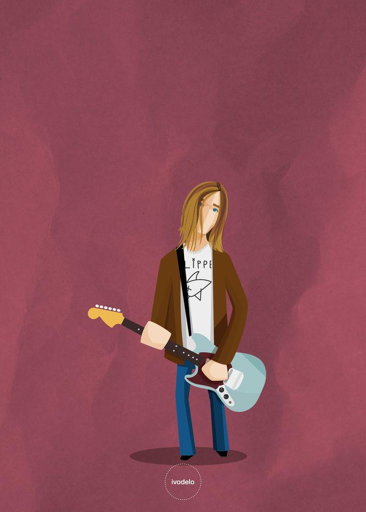 Kurt  #kurt #cobain #nirvana #illustration #ivodelo