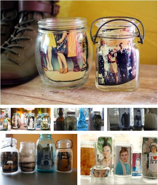 Use jars as easy picture frames. | 51 Insanely Easy Ways To Transform Your Everyday Things