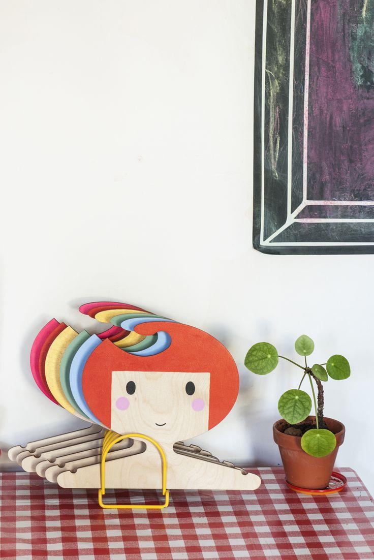 plywood hanger, children's room, personalised