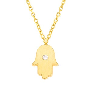 27 best hamsa hand of fatima images on pinterest hamsa hand unique 14k yellow gold with white diamond mini hamsa hand of god pendant necklace aloadofball Choice Image