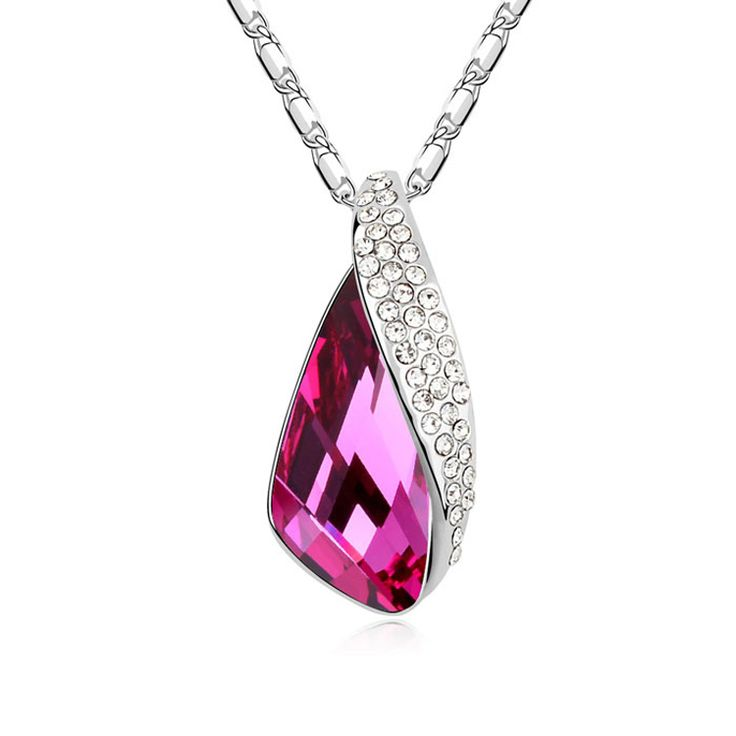 2014 Rushed Promotion Necklaces Jewelry (xx90) Elegance Fashion Female Necklace Bride Wedding Inlaid Austrian Teardrop Shape $18.70