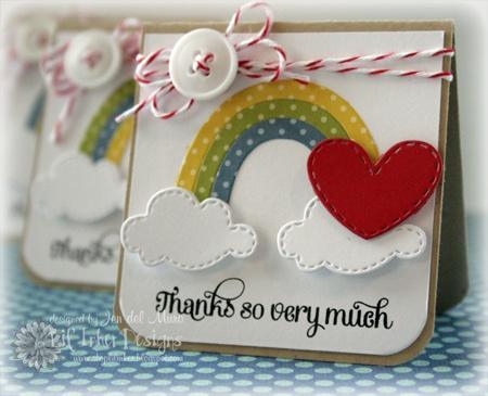 mini rainbow cards