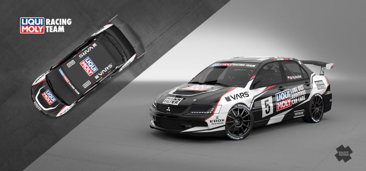 Liqui Moly Racing Team - Marek Rybníček (Mitsubishi Lancer Evo IX) - design and wrap for season 2014.