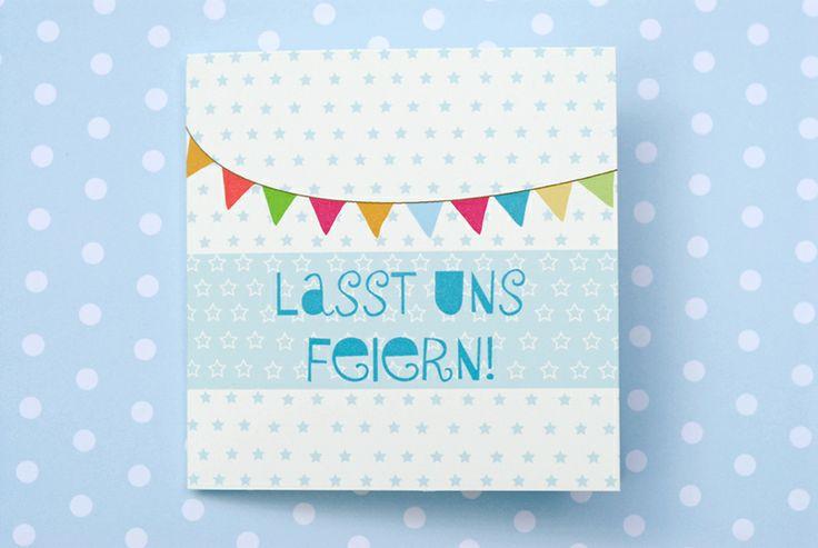 ☆LASST UNS FEIERN!☆ Einladungskarte von Trudl&Traudl - Sauerkraut und Polka! auf DaWanda.com