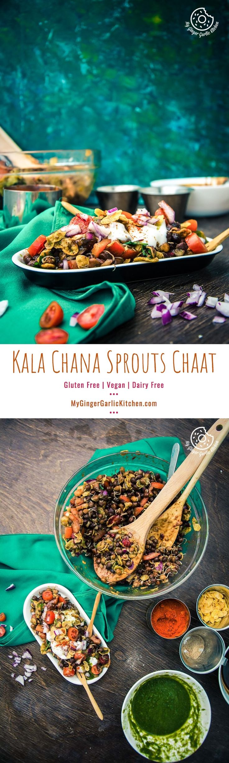 This Vegan and Gluten Free Kala Chana Sprouts Chaat | Black Chickpeas Chaat Recipe is overflowing with the combo of deliciousness and good health. From mygingergarlickitchen.com