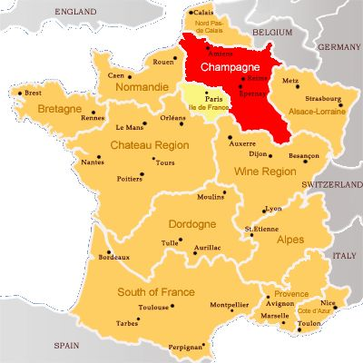 Only sparkling wine from this region in France can be called Champagne.  Any other bubbly is not champagne.  champagne region of france - Google Search
