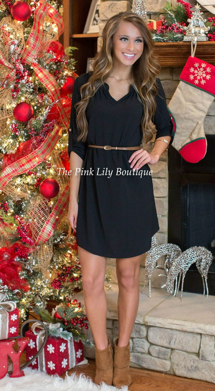 Have A Little Faith Black Dress - The Pink Lily Boutique