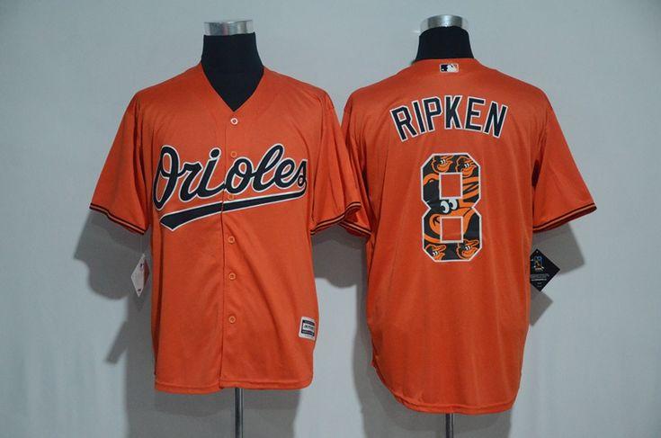 fb416db14df 2017 MLB Baltimore Orioles 8 Ripken Orange Fashion Edition Jerseys