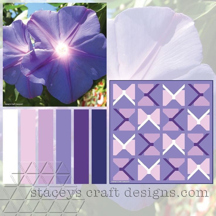 Colour Palette Purple Ipomea by Stacey's Craft Designs