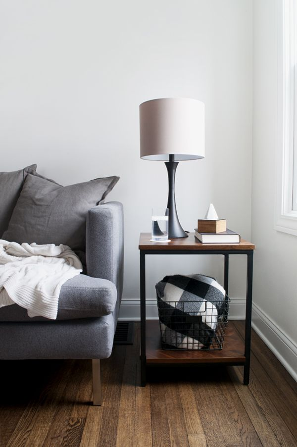 how to style your side table to match your aesthetic - masculine industrial | via coco+kelley
