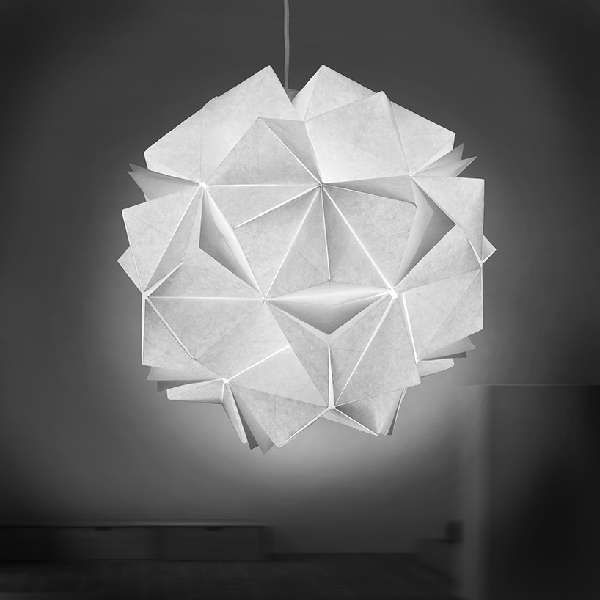 Collapsible Papercraft Lighting - Jiangmei Wus Origami Light Fixtures Burst with Luminescent Rays (GALLERY)
