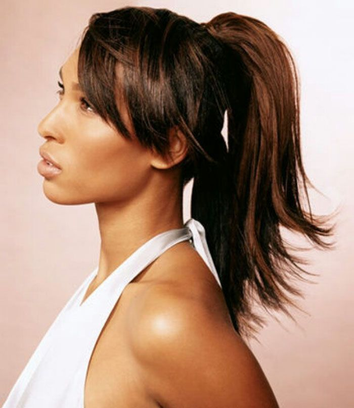 23 best pretty ponytails images on pinterest black girls weave ponytail hairstyles with bangs pmusecretfo Choice Image