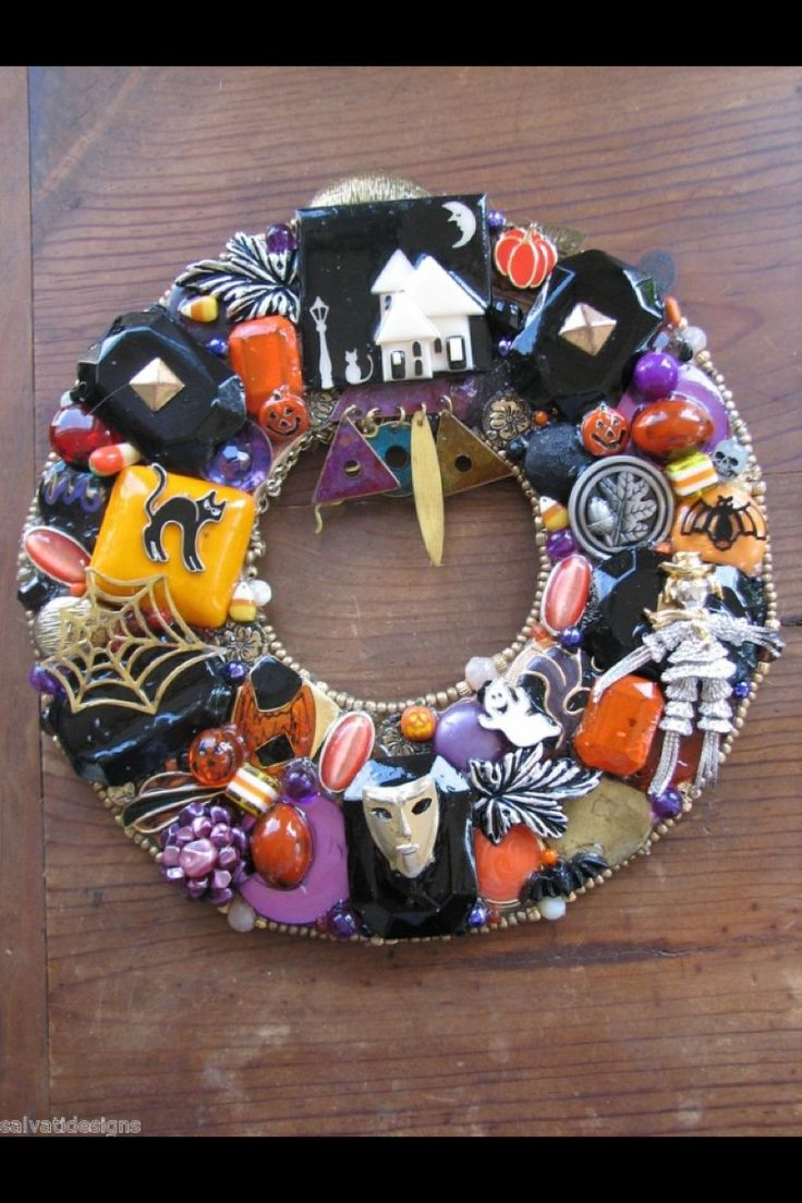 Pin by misty romesburg on halloween diy pinterest - Interesting diy halloween wreaths home ...