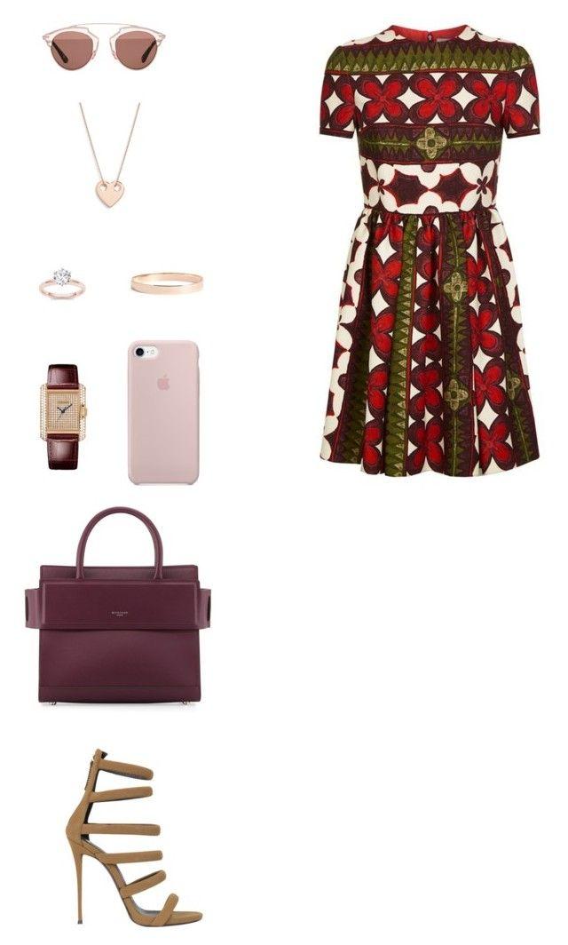 """House of Madalani"" by houseofmadalani on Polyvore featuring Valentino, Giuseppe Zanotti, Christian Dior, Givenchy, Cartier, Lana Jewelry and Ginette NY"