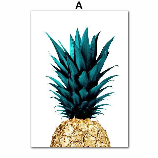 Stay Gold Pineapple Wall Art Pineapple Wall Art Wall Art Canvas Painting Pineapple Art