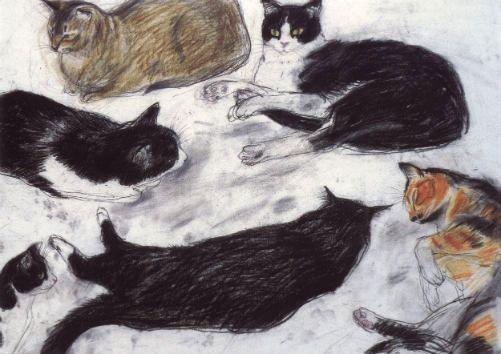 study_of_cats_by_elizabeth_blackadder