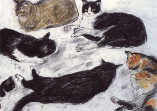 study_of_cats_by_elizabeth_blackadder