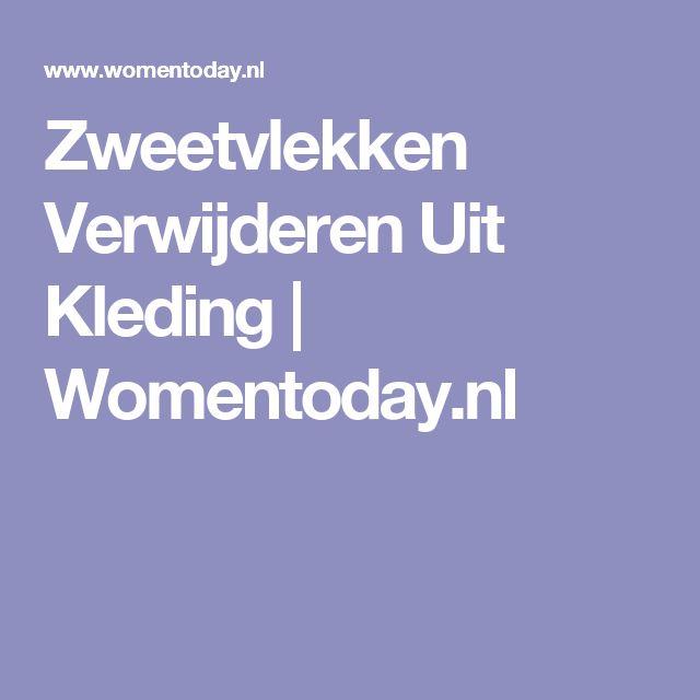 Zweetvlekken Verwijderen Uit Kleding | Womentoday.nl