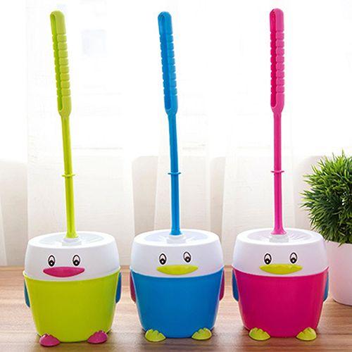 >> Click to Buy << Plastic Bathroom Toilet Cleaning Cartoon Penguin Holder Non-slip Handle Brush Set #Affiliate