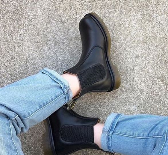 Sztyblety Dr Martens 2976 Black Smooth 11853001 Boots Martens Chelsea Boots
