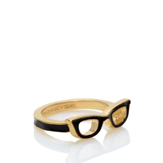 Never in my wildest pre-teen dreams would I have believed that glasses - the big, chunky prescription variety, not the Tom Cruise Top Gun type - would become a stylishly iconic . . . TY Brad and kate-the-great! Goreski glasses ring @kate spade new york