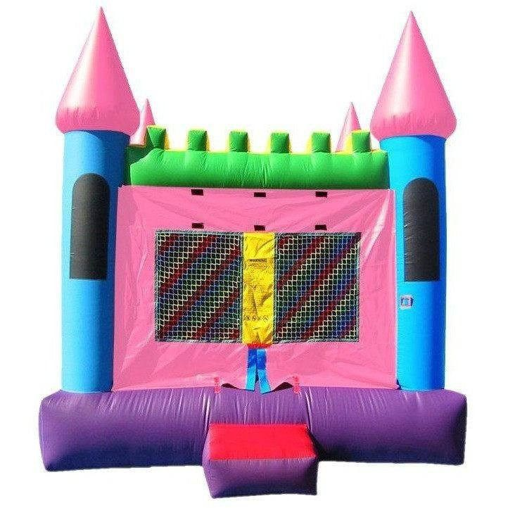 Commercial Pink Castle 2 Bounce House